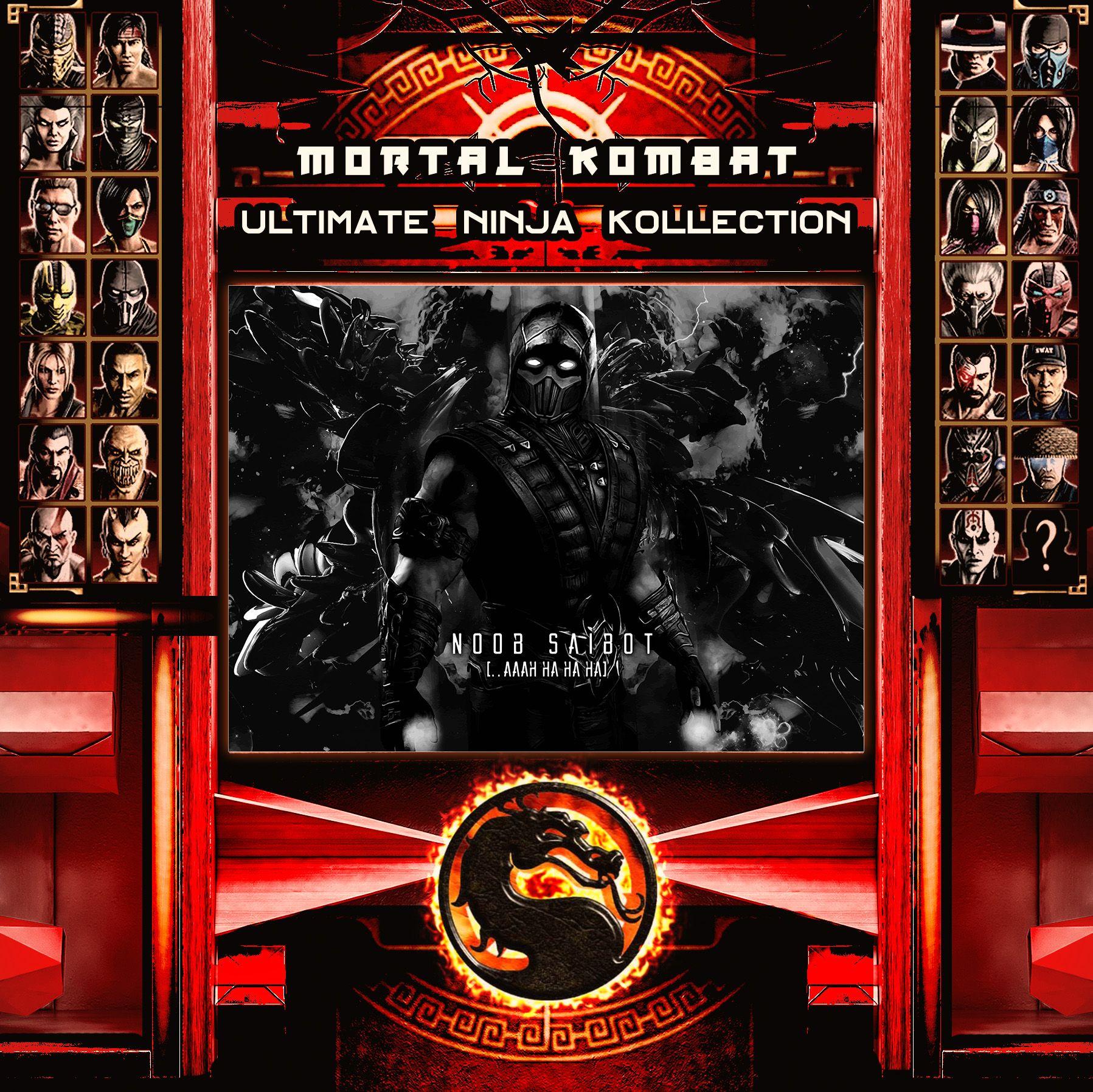 Mortal Kombat Ultimate Ninja Collection Noob Saibot Metal Print | Displate thumbnail