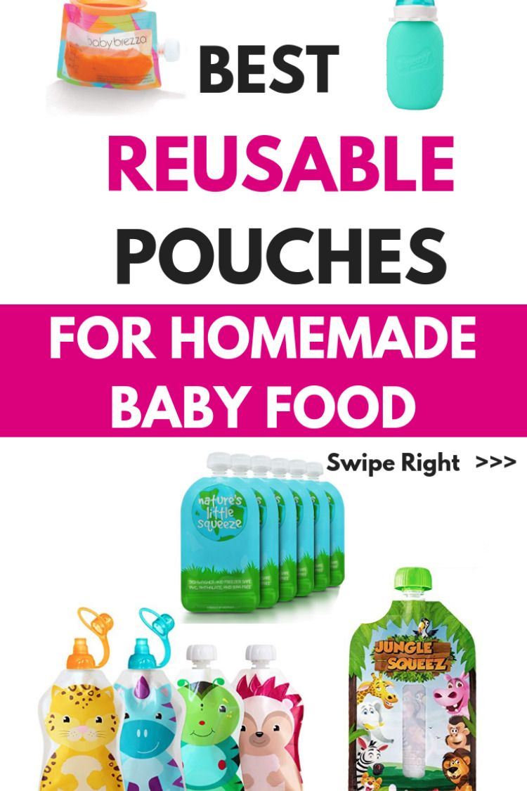 5 Best Reusable Baby Food Pouches for Homemade Baby Food ...