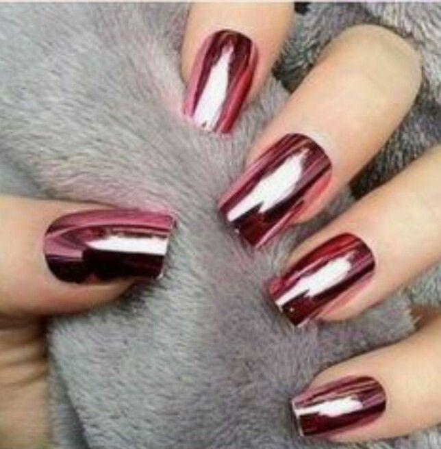 Idea unghie effetto specchio rosa acceso gel semipermanente idea unghie nails - Unghie gel specchio ...