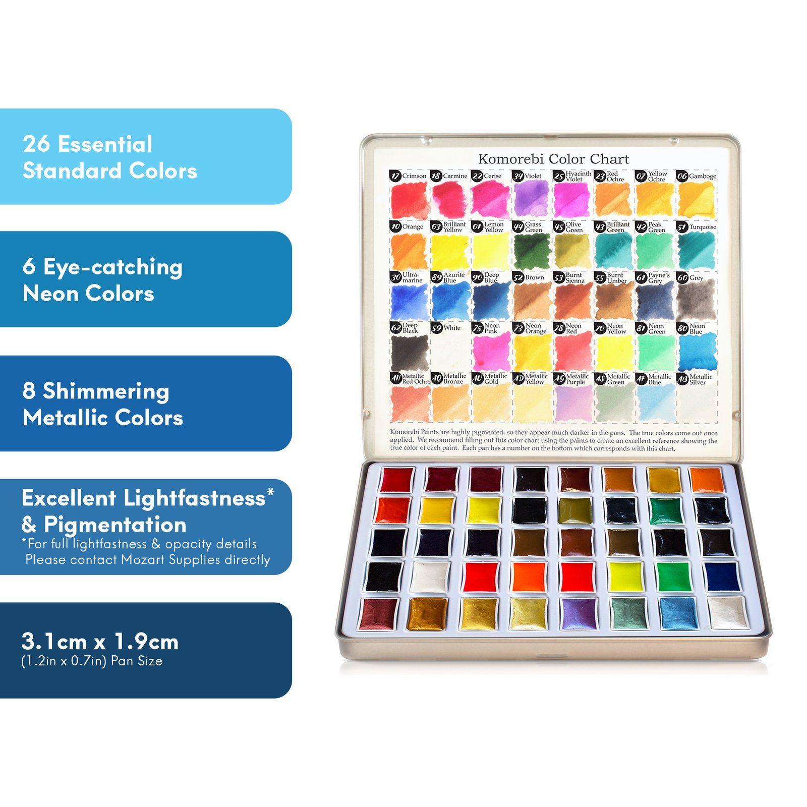 Watercolor Paint Set 24 Colors Watercolor Paint Set Paint Set
