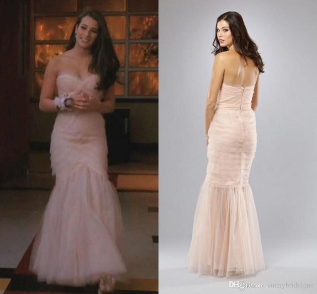 Drop Waist Diamond White Strapless Wedding Dress With: Blush Pink Bridesmaid Dresses Sweetheart Strapless Ruched