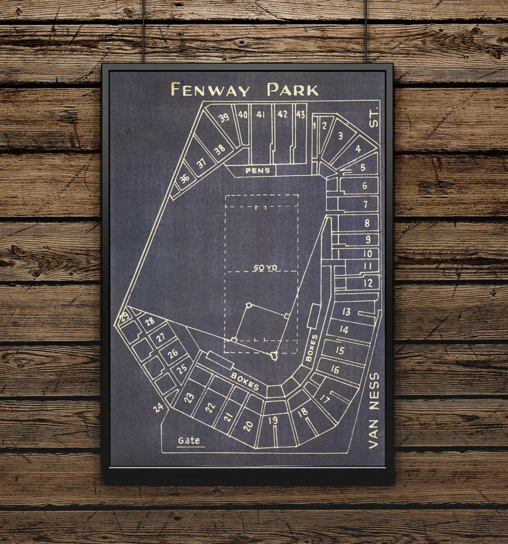 Fenway park blueprint for the baseball mancave stacy pinterest awesomize your mancave or build one from scratch malvernweather Image collections