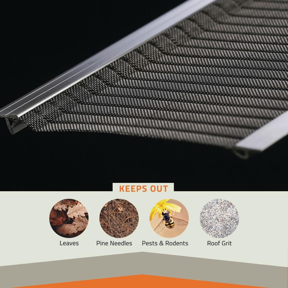 Gutter Guard By Gutterglove 4 Ft L X 6 In W Stainless Steel Micro Mesh Gutter Guard 3 Pack Thdx12 The Home Depot In 2020 Gutter Guard Gutter Gutter Protection