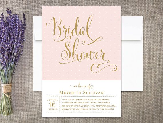modern calligraphy bridal shower invitations by rockpaperdove
