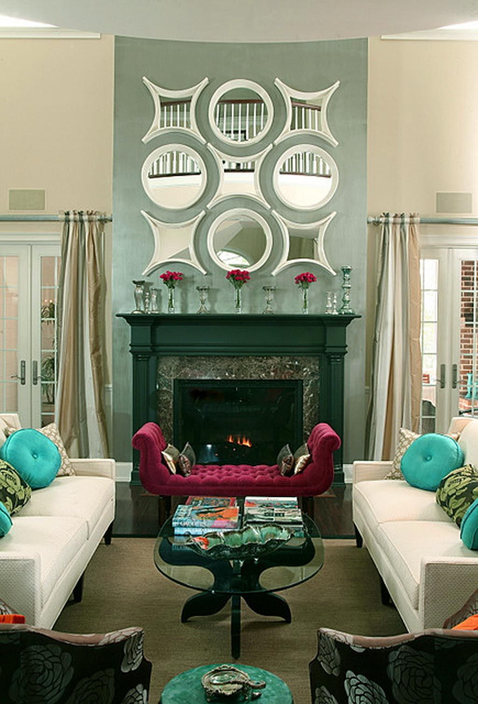 Fireplace Surround Ideas Modern Fireplace Black Cornice Mirror