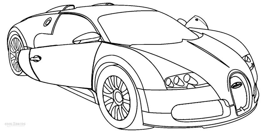 Bugatti veyron tiger car coloring pages