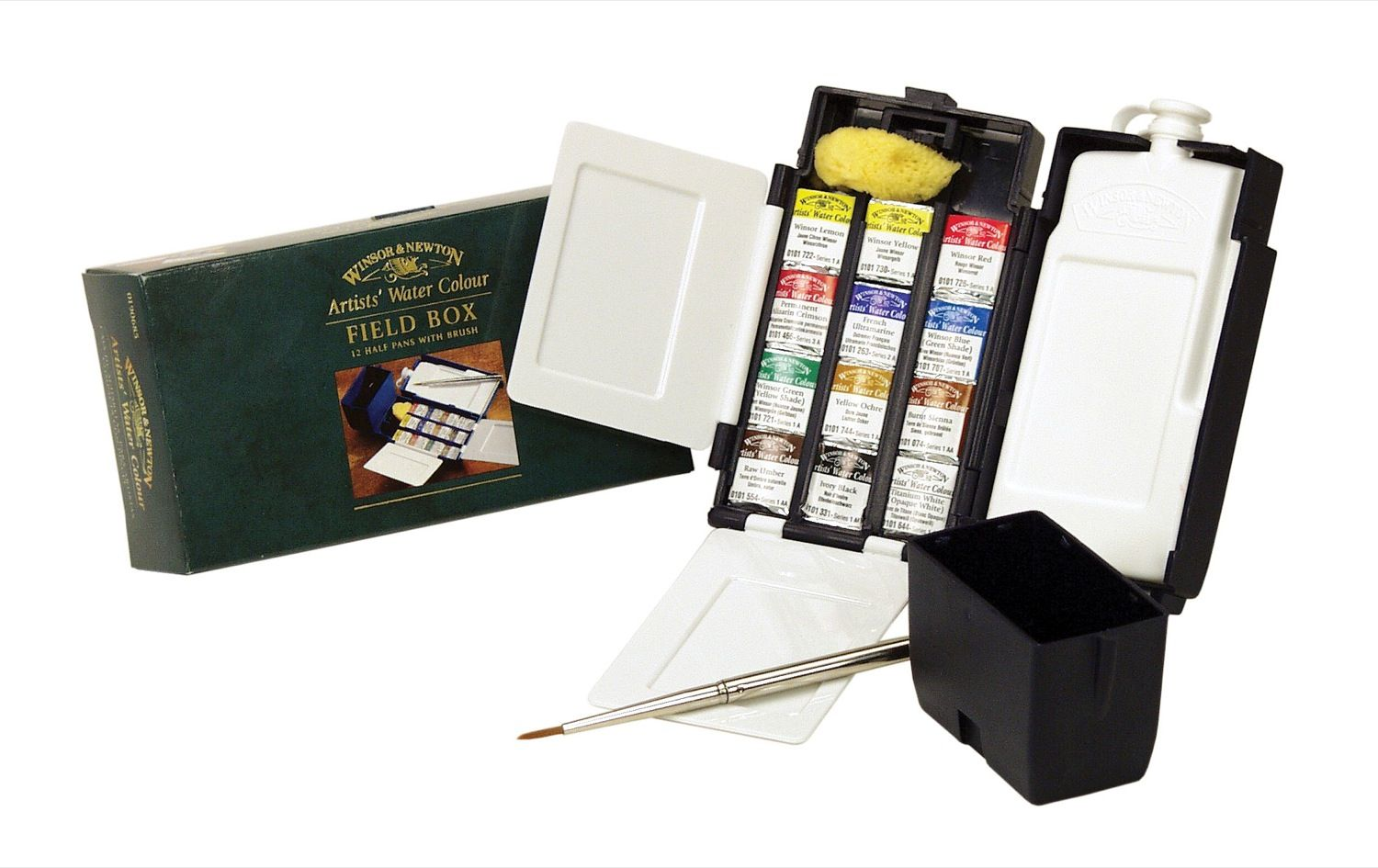 Winsor Newton Artists Watercolor Travel Set Field Box
