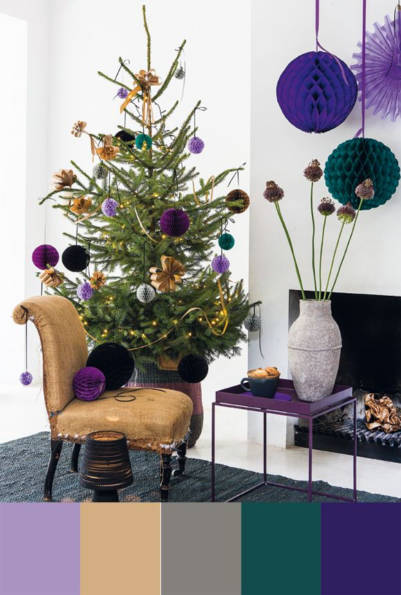 Color palette christmas tree by for Christmas tree color schemes