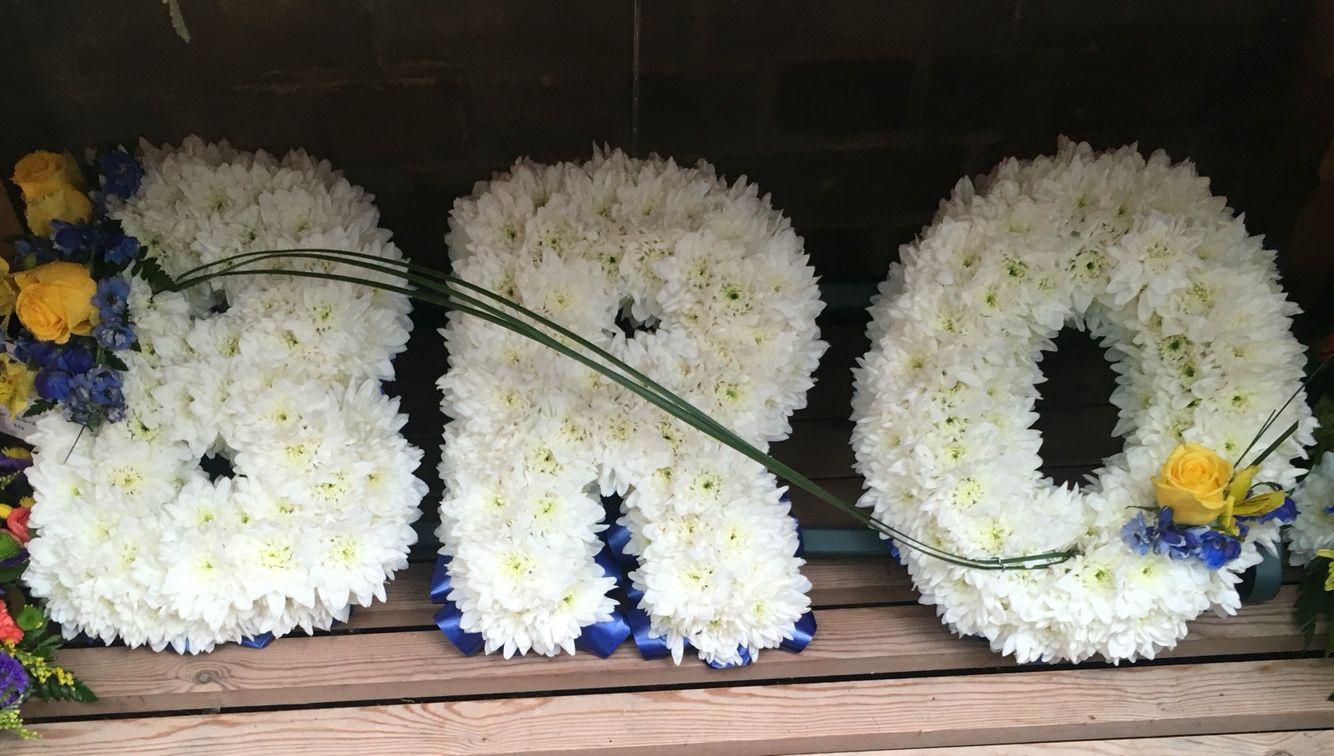 Bro funeral letters chrysanthemum based letters funeral flowers bro funeral letters chrysanthemum based letters funeral flowers izmirmasajfo