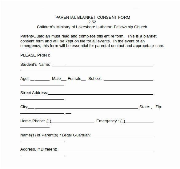 Medical Consent Forms Templates Elegant Sample Child Medical