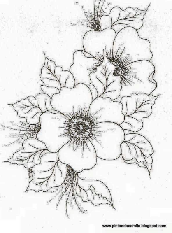 Pin by asa jis on art pinterest embroidery drawings and flowers nice flower print now if i could color blend and shade mightylinksfo