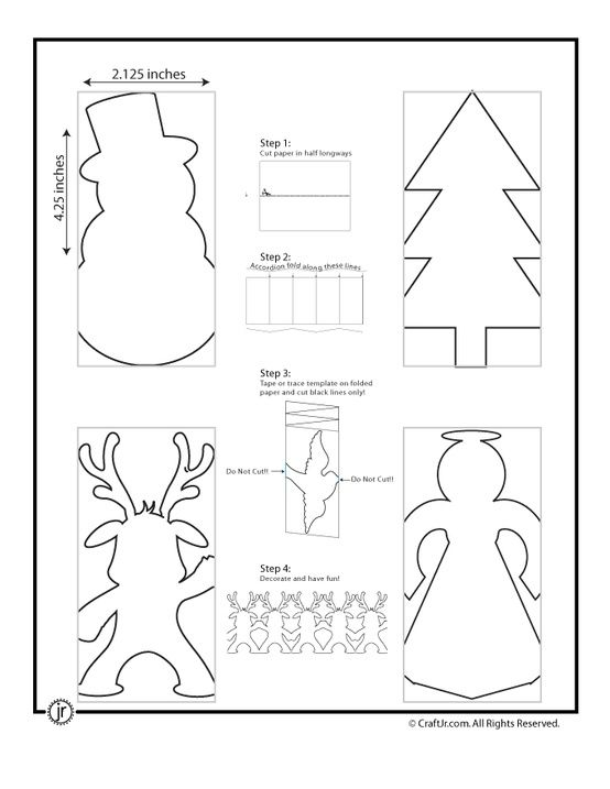 Christmas Paper Chains Christmas Paper Chain Template
