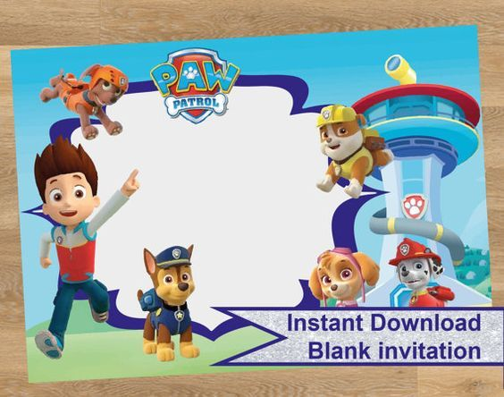 Paw Patrol Birthday Invitations Free Printable Invitation - Paw patrol invitation template