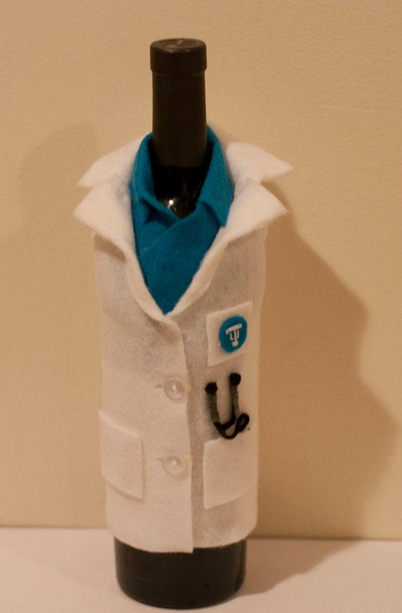 wine glass sleeve for medical school graduation by sincerelyeunice