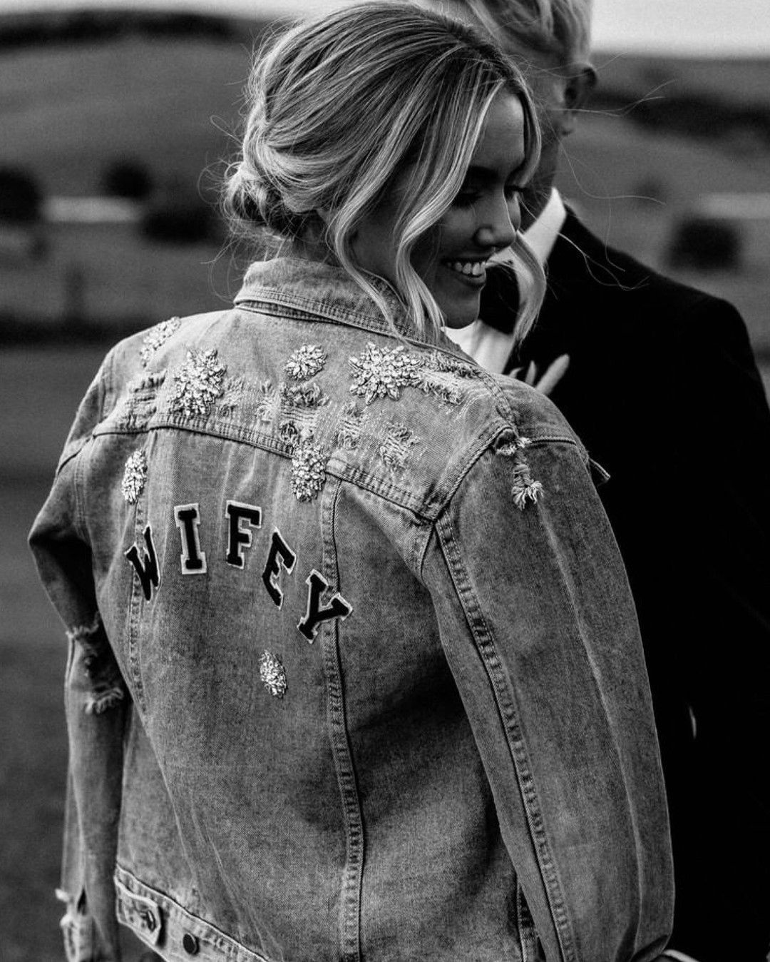 Kyha Studios One Day Bridal S Instagram Post Our Gift To You Receive A Complimentary Wifey Deni In 2021 One Day Bridal Wifey Jacket Denim Jacket [ 1348 x 1080 Pixel ]