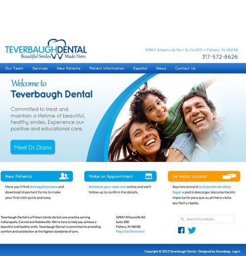 Teverbaugh Dental | Web Design Sample | Roundpeg | Indianapolis