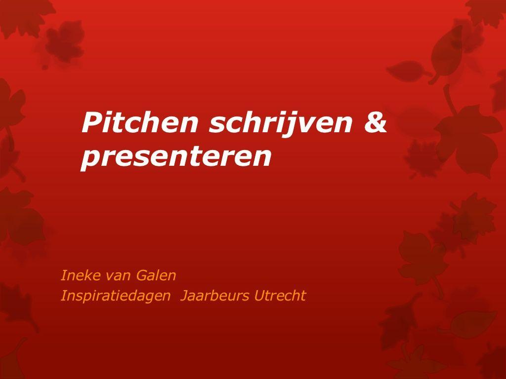 Elevator Pitch Schrijven Amp Presenteren Inspiratiedag