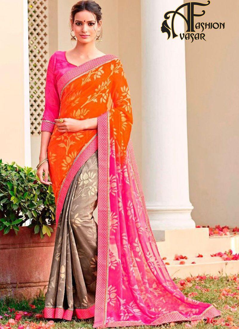 casual sarees online shopping india,UK. printed casual saree ...