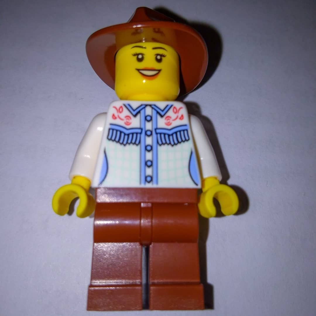Lego Cowgirl Legal Compliance Business Card Minifigure Rare Lego Minifigures Rare Lego Lego Minifigures