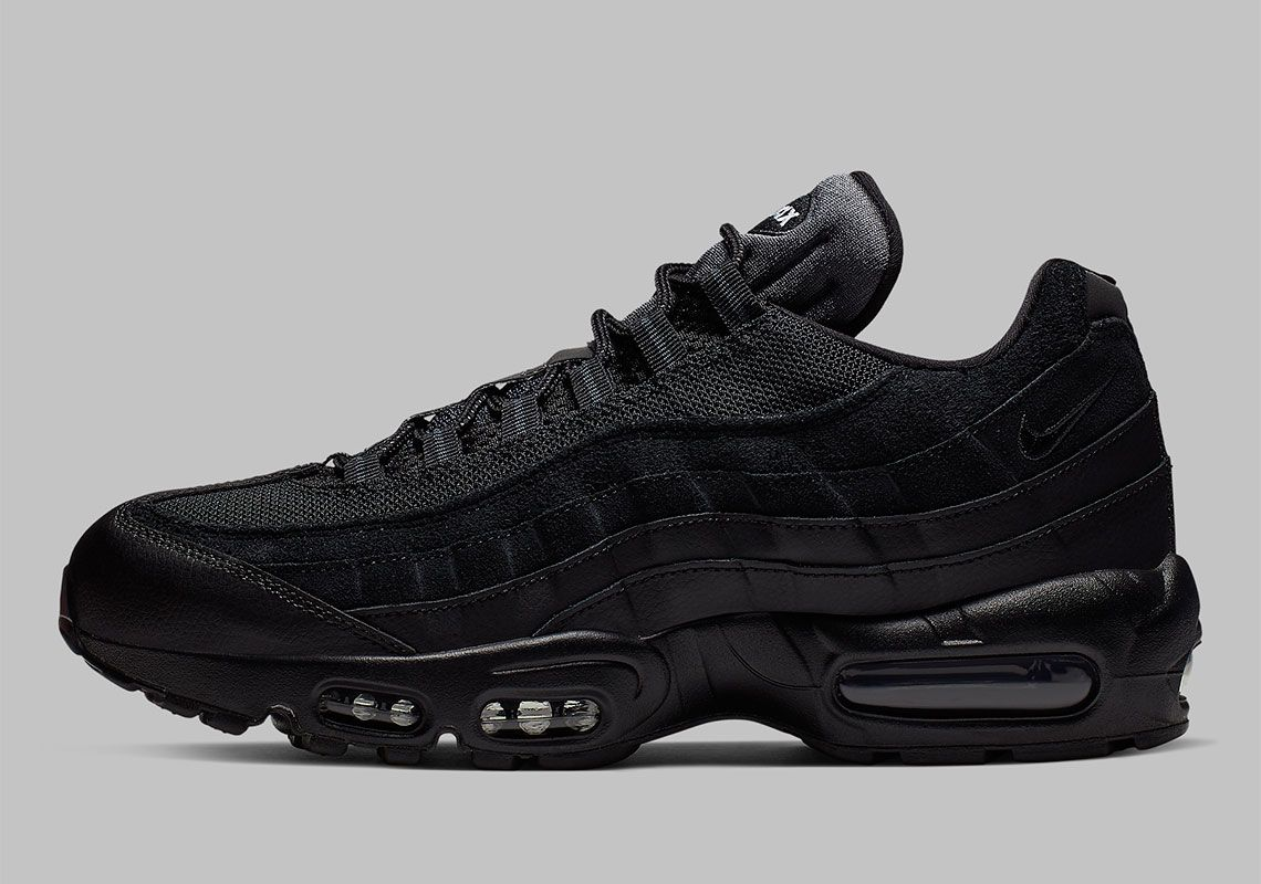 The Nike Air Max 95 Essential Is Back In A Near Triple Black Look