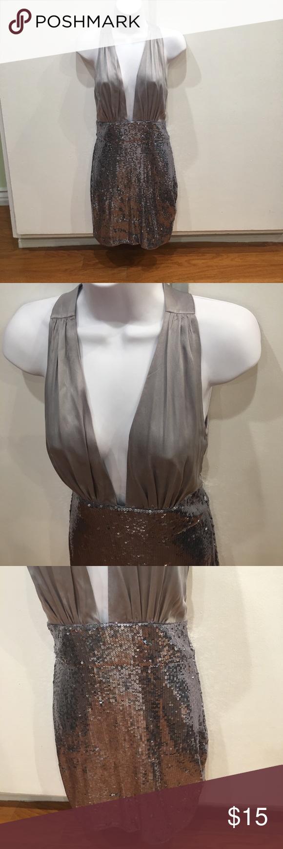 Bcbg silver shimmery dress in my posh picks pinterest
