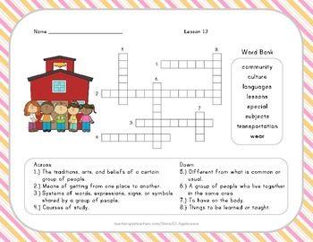 Vocabulary Crossword Puzzle Crossword Puzzle Crossword Fun