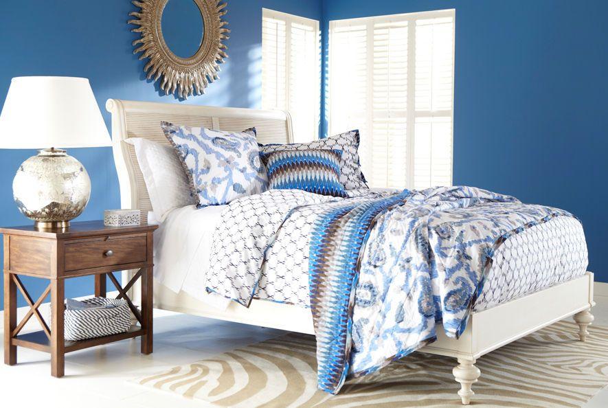 Interior Design Trends: Blue. Ethan Allen's take on blue decor. Ethan Allen Bedrooms. Blue Bedrooms.
