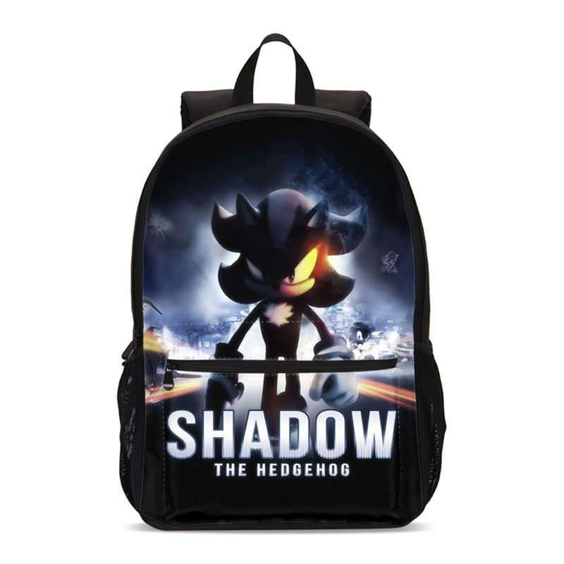 Sonic the Hedgehog 3D Print Backpack Boy Girl School Bookbag Travel Bag