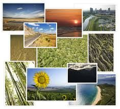 scenery montage - This montage is very attractive to the guy as the pictures offer a range of vibrant colours and fit well together.