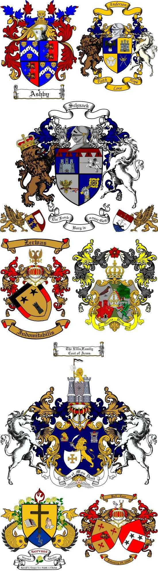 Personal or Family Coat of Arms Samples | Teaching Medieval History