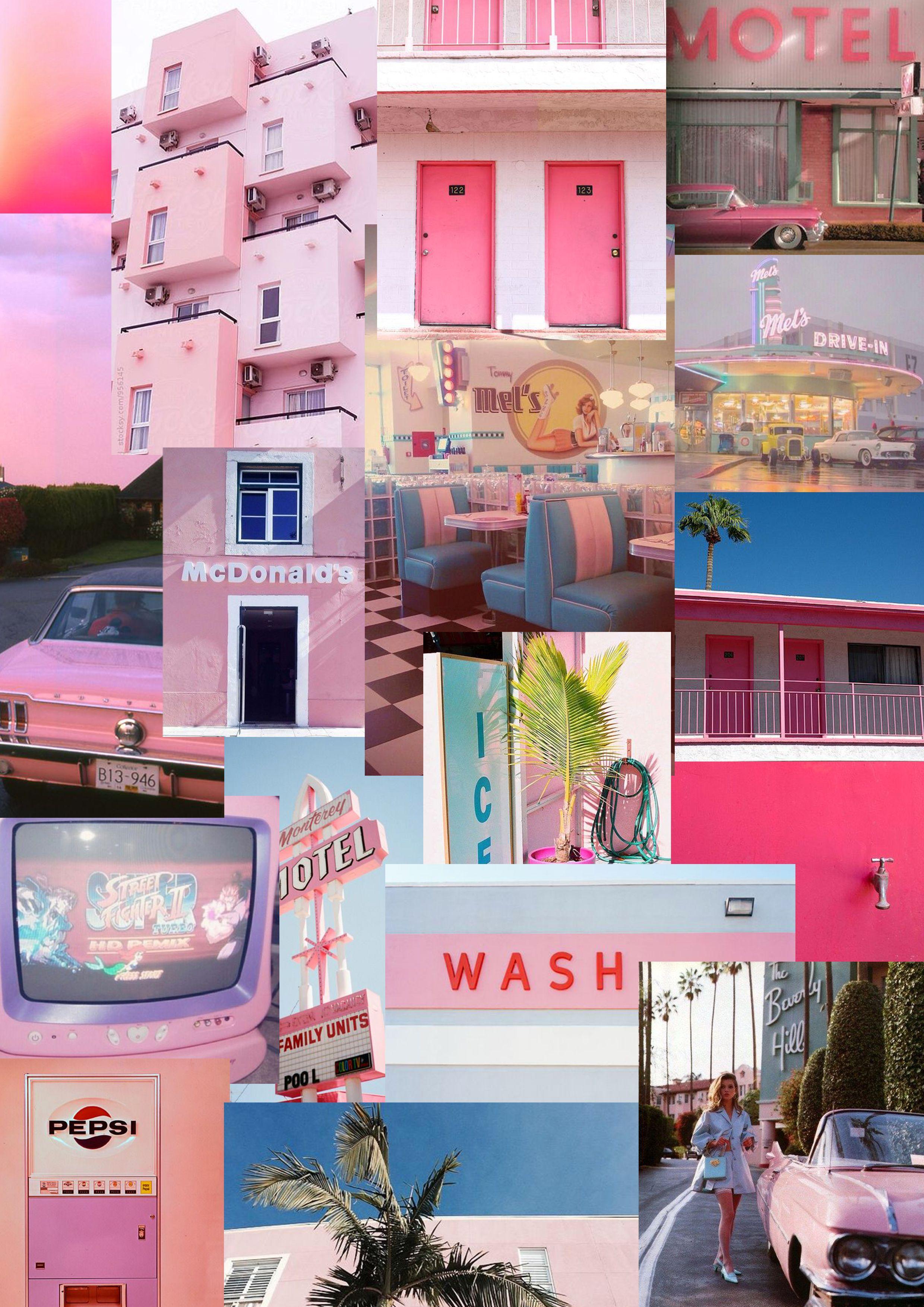 Moodboard USA+Retro+Pink
