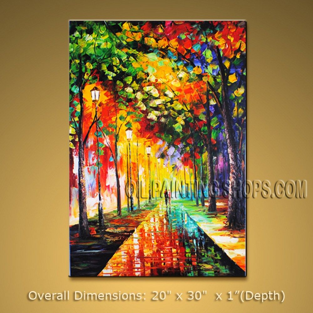 High Q. Large Wall Art For Home Decor Impressionist Palette Knife Park 20