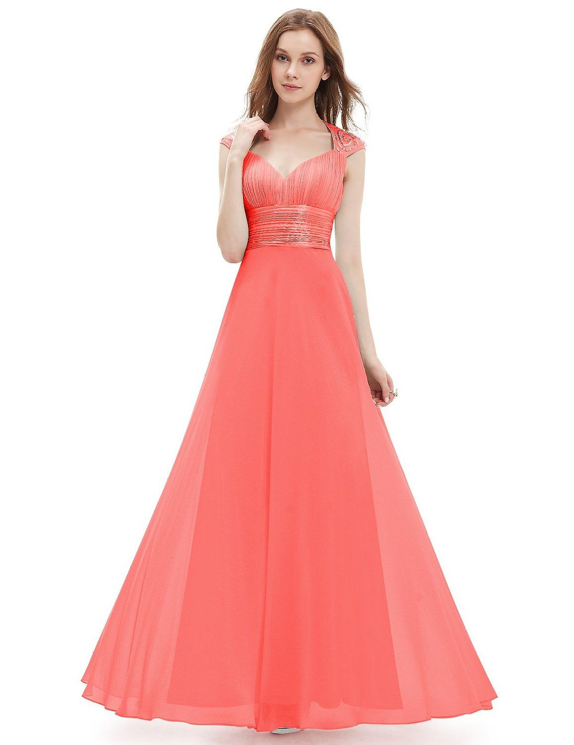 320ea7eef8 Ever Pretty Chiffon Sexy V-neck Ruched Empire Line Evening Dress 09672 at Amazon  Women s Clothing store