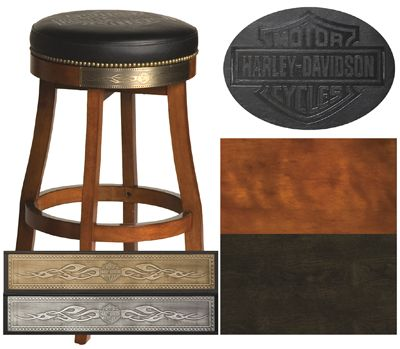 Awesome Harley Davidson Roadhouse Collection Bar Shield Barstool Caraccident5 Cool Chair Designs And Ideas Caraccident5Info