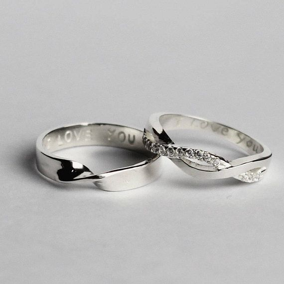 Pin By Aleshia On Bling Bling Fashion Rings Rose Plain Wedding Band Wedding Ring Sets