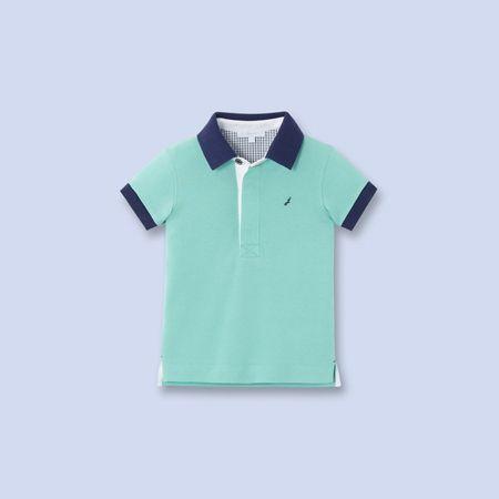 light green contrast trim polo shirt #JacadiParis #bGstyle