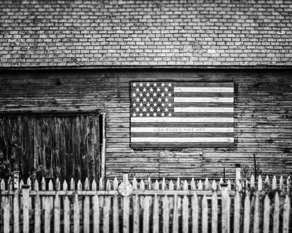 Black and white americana barn photography by lisarussofineart