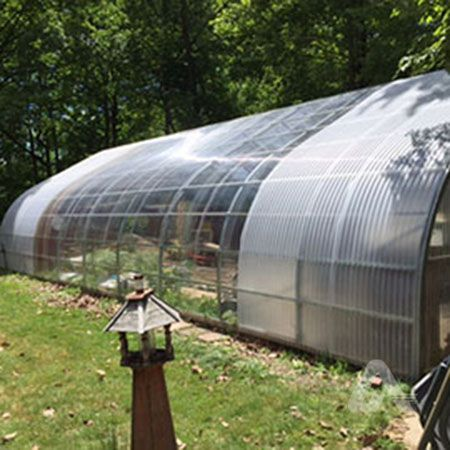 Residential Hobby Greenhouse Clear Softlite Corrugated