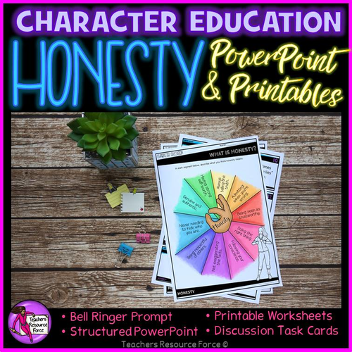 Honesty Lesson Character Education Values Powerpoint