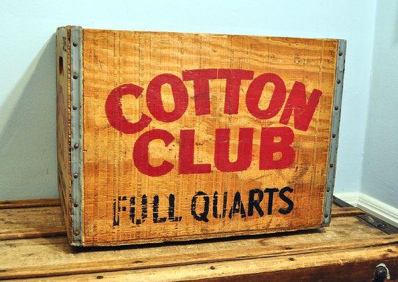 Vintage Cotton Club Soda Crate