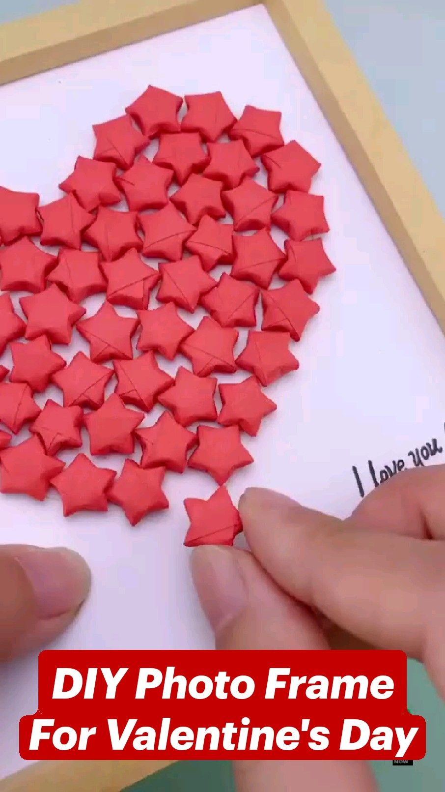 DIY Photo Frame For Valentine's Day