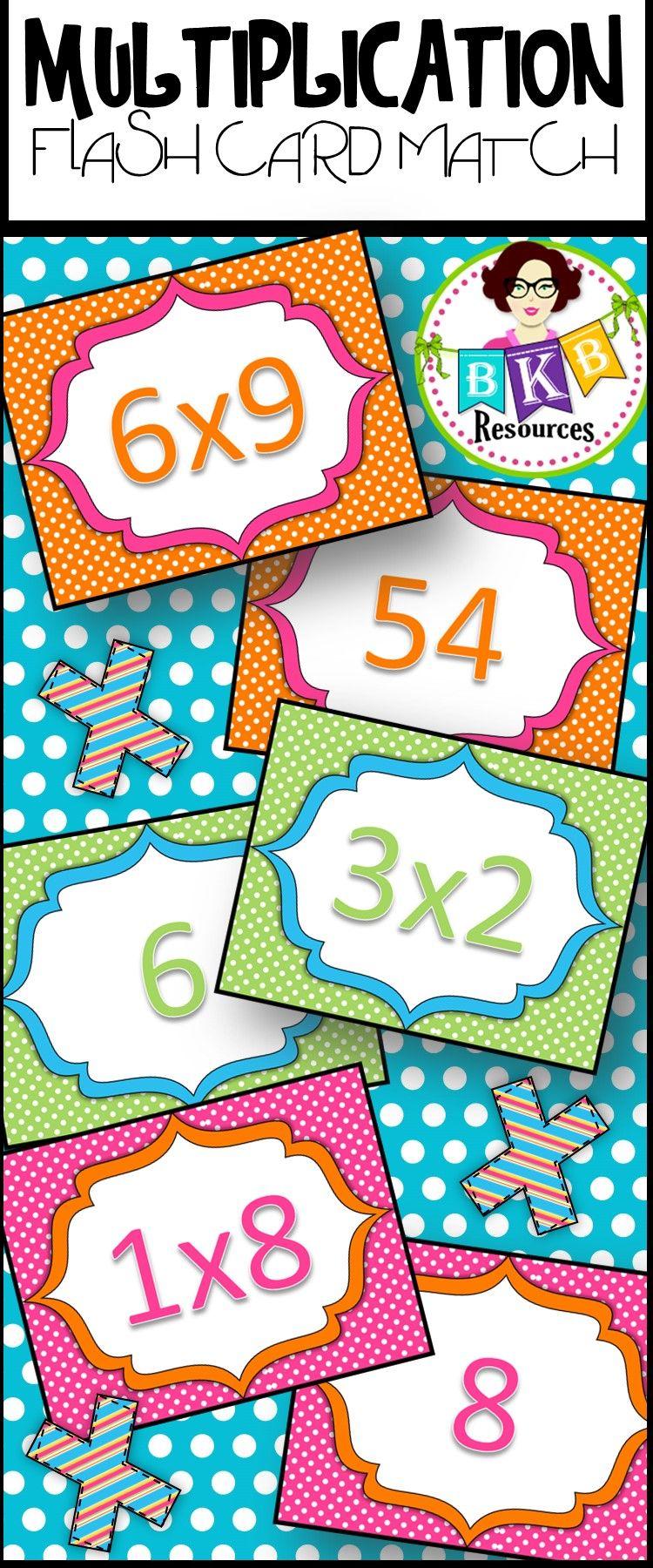 multiplication flash card match teaching math pinterest multiplication flash cards multiplication and equation