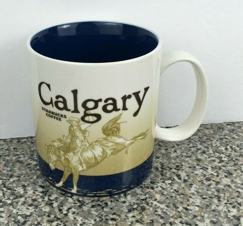 Starbucks Coffee 16 oz Mug Calgary Alberta Canada 2009