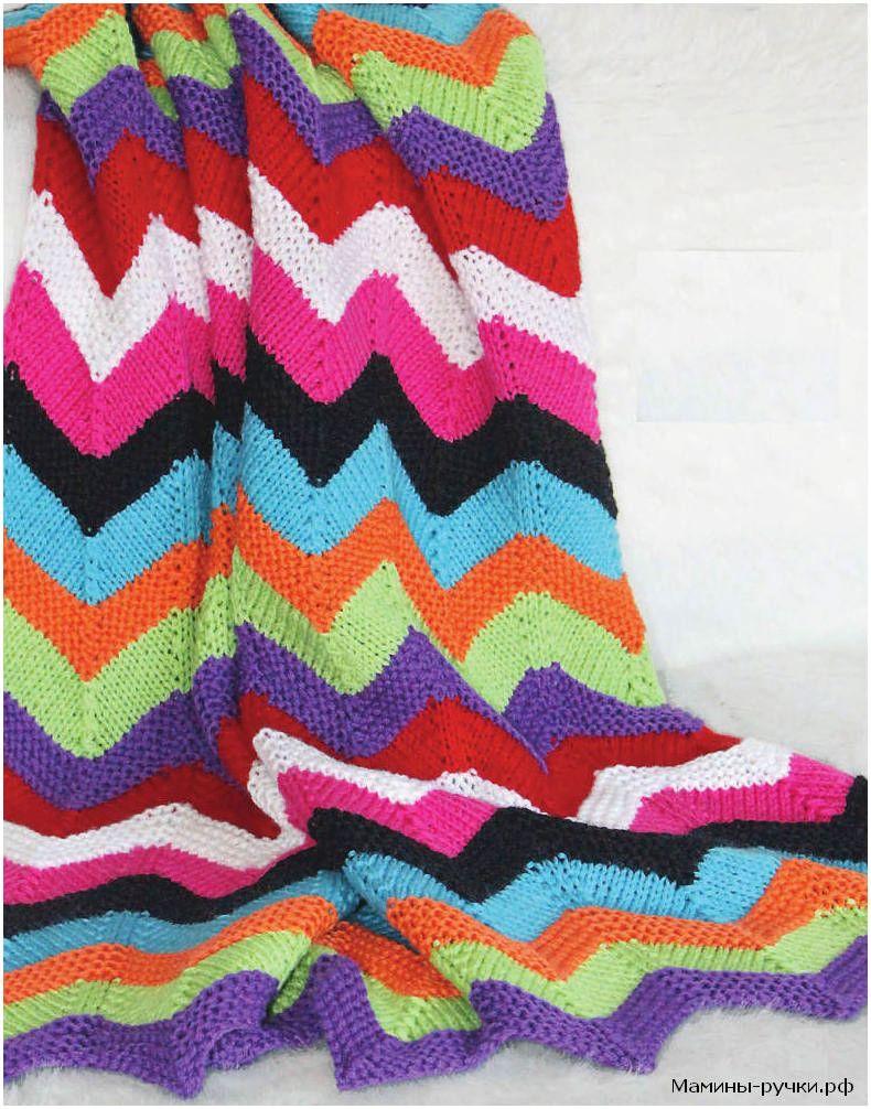 Вязание крючком: цветной плед из ярких мотивов