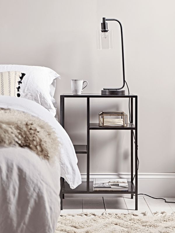 NEW Industrial Style Bedside Table Bedroom Furniture