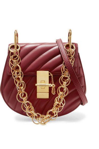 Chloé Drew Bijou Quilted Leather Shoulder Bag - Merlot   Sac cuir, Sac et  Les accessoires 860f298c679