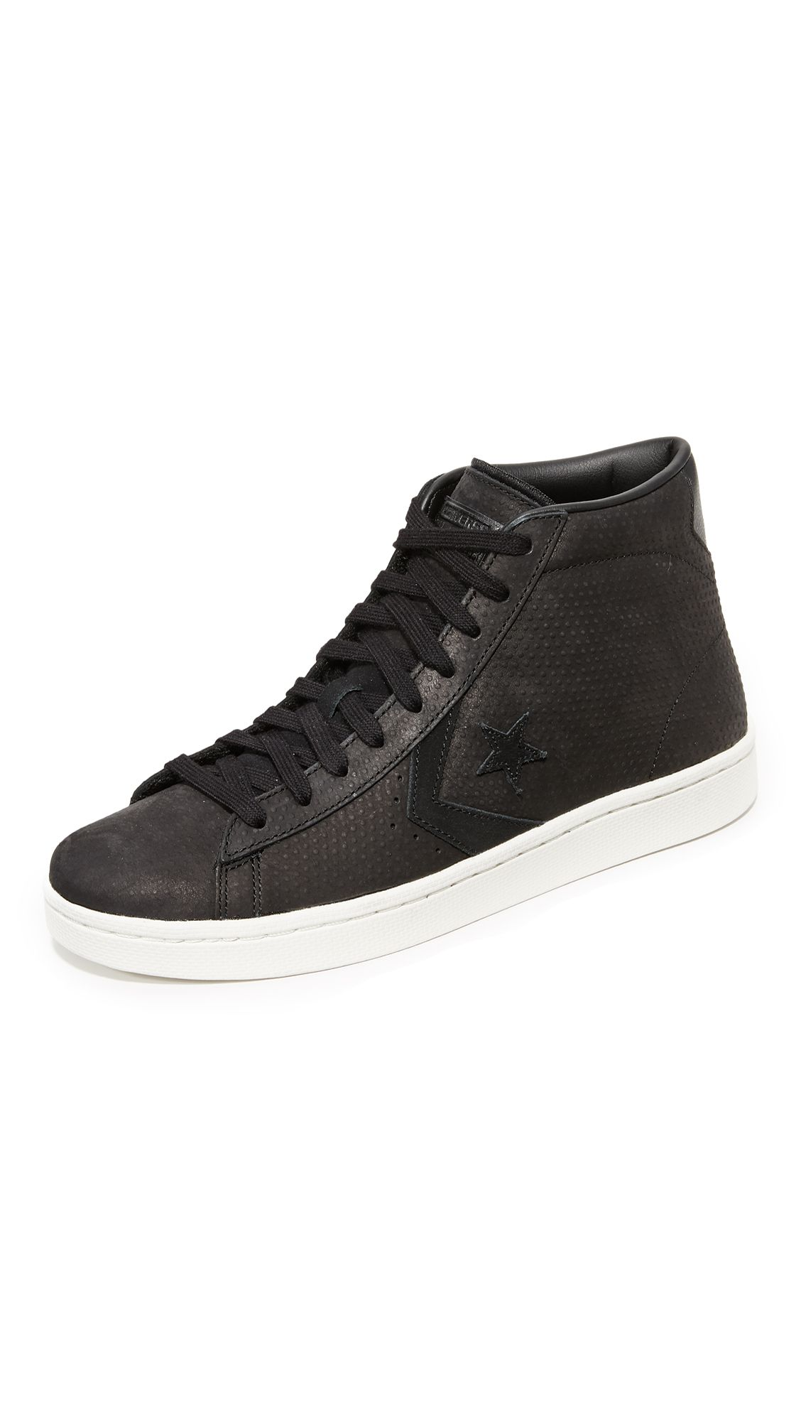 converse pro leather mid top