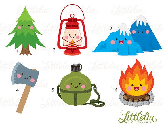 Camping kawaii. Nature products