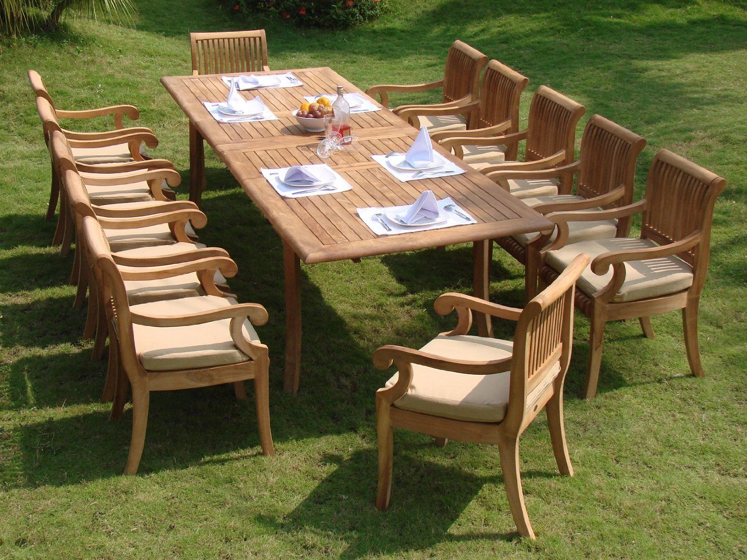 We Ll Help You Choose New Patio Furniture By Reviewing Some Of The Best Outdoor Teak Dini Teak Outdoor Furniture Patio Outdoor Dining Set Teak Garden Furniture