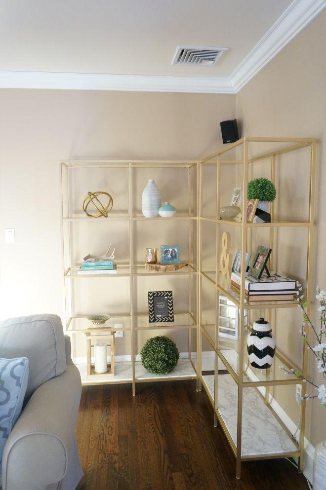 ikea vittsjo makeover my first home pinterest wohnzimmer regal und wohnung einrichten. Black Bedroom Furniture Sets. Home Design Ideas
